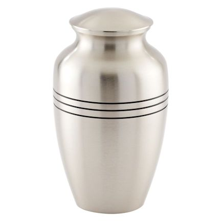 Abel Funeral Urn Brushed Pewter