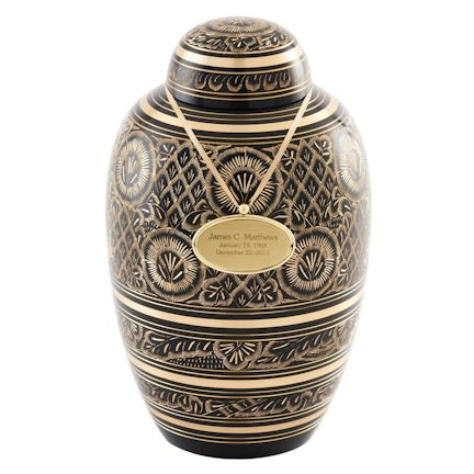 Abel Funeral Urn Midnight Ornate