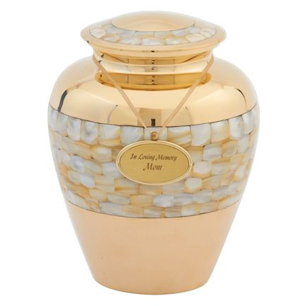 Abel Funeral Urn Mother of Pearl Large
