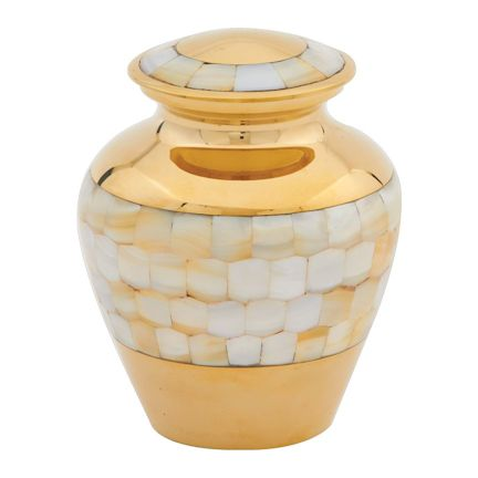 Abel Funeral Urn Mother of Pearl Medium